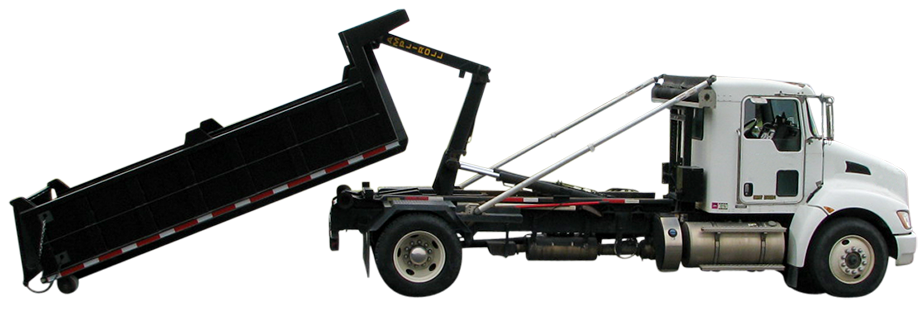 A removable dump body by Bison Hooklift Systems